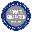 Deposits Guaranteed with Credit Union Deposit Guarantee Corporation
